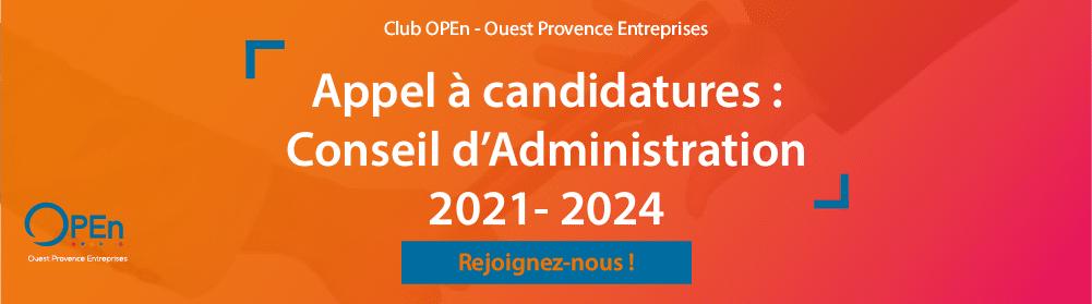Appel à candidatures Conseil d'Administration 2021-2024